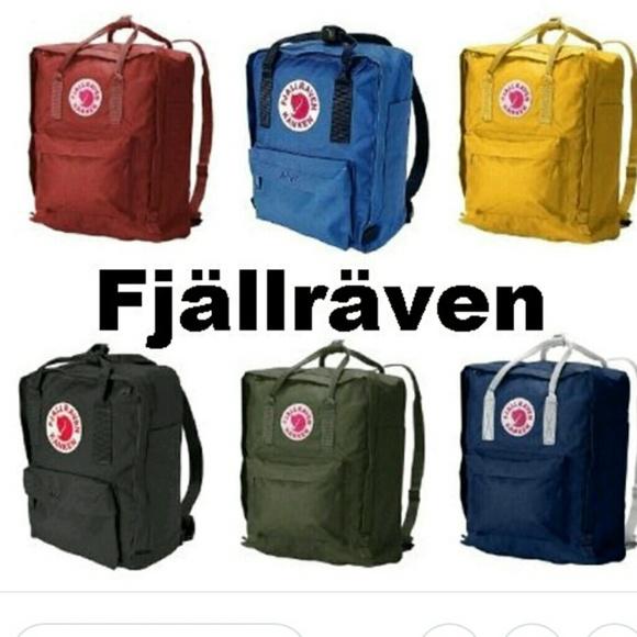 Fjällräven Kånken Mini backpack in Ochre Depop